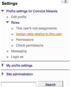 Settings block role assignment